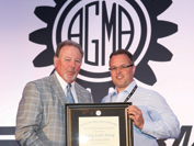 Scott Knoy receiving the AGMA Next Generation award